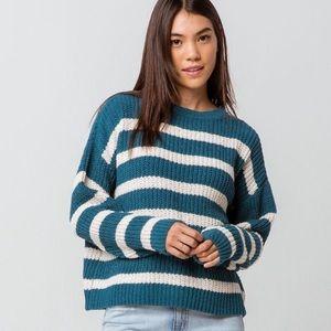 Tilly's FULL TILT Teal blue knit sweater